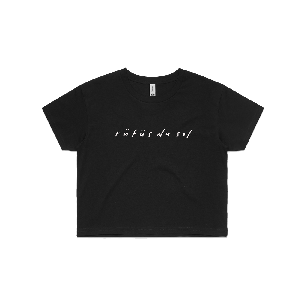 Cursive / Crop Top T-shirt