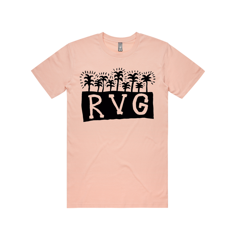 Palm Tree / Pale Pink T-shirt