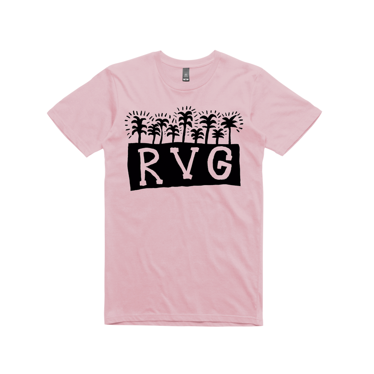 Palm Tree / Light Pink T-shirt