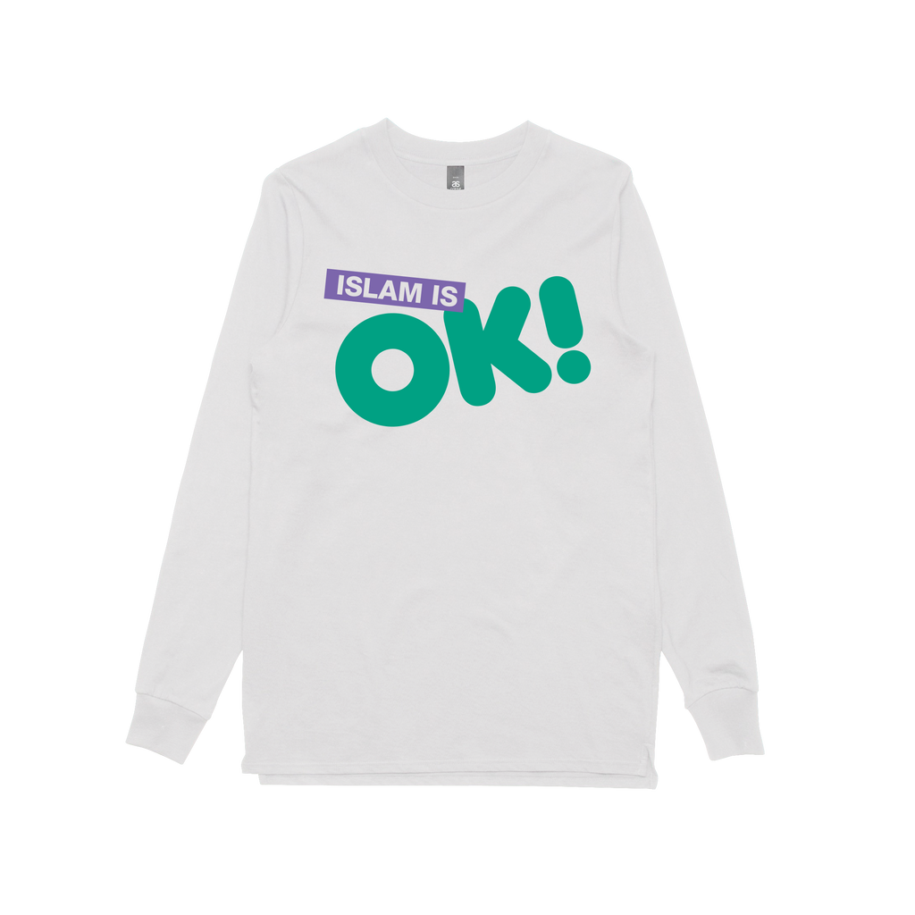 Islam is OK! / White Longsleeve T-shirt