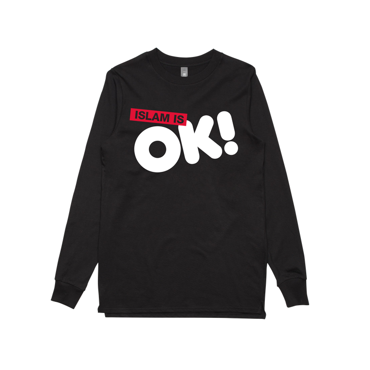Islam is OK! / Black Longsleeve T-shirt
