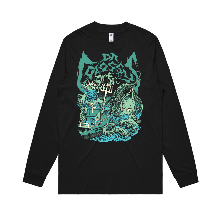Sea Captain Neptune & Kraken Burns / Longsleeve (Glenno Design)