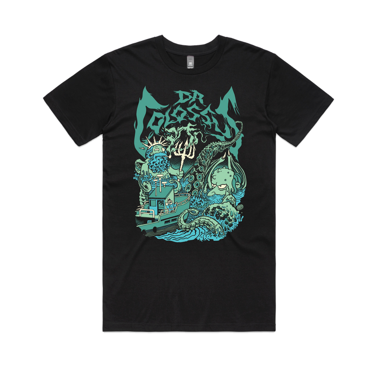 Sea Captain Neptune & Kraken Burns / T-shirt (Glenno Design)