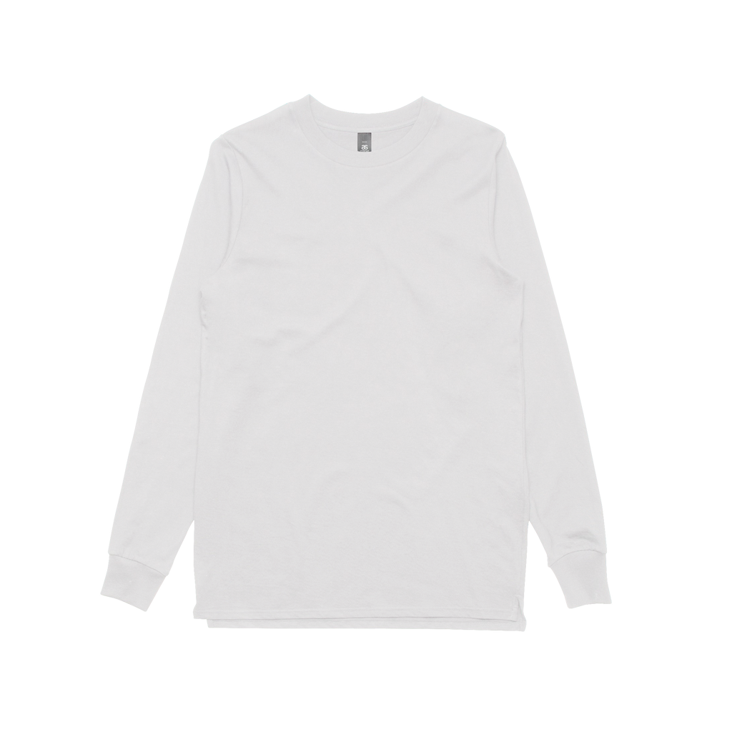 AS COLOUR  base    plain white longsleeve t-shirt – sound-merch.com.au fa51cf43567