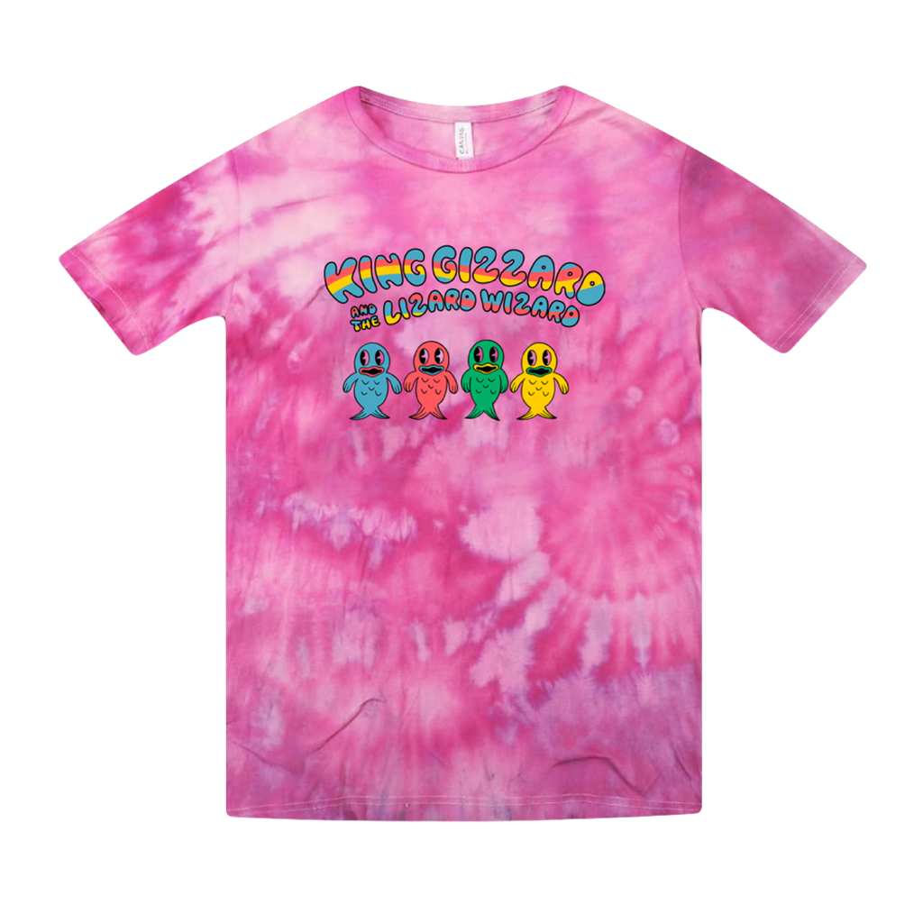 Fish Family / Pink Tie Dye T-shirt + 'K.G.' Digital Download