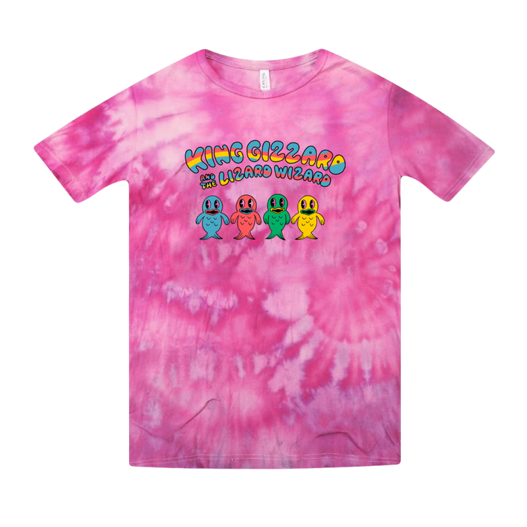 Happy Fish / Pink Tie Dye T-shirt + 'K.G.' Digital Download
