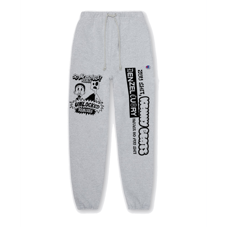 Denzel Curry & Kenny Beats - Unlocked 1.5 Charcoal Sweatpants ***PRE-ORDER***
