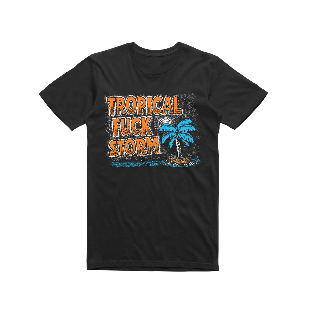 Palm Tree / Black T-shirt