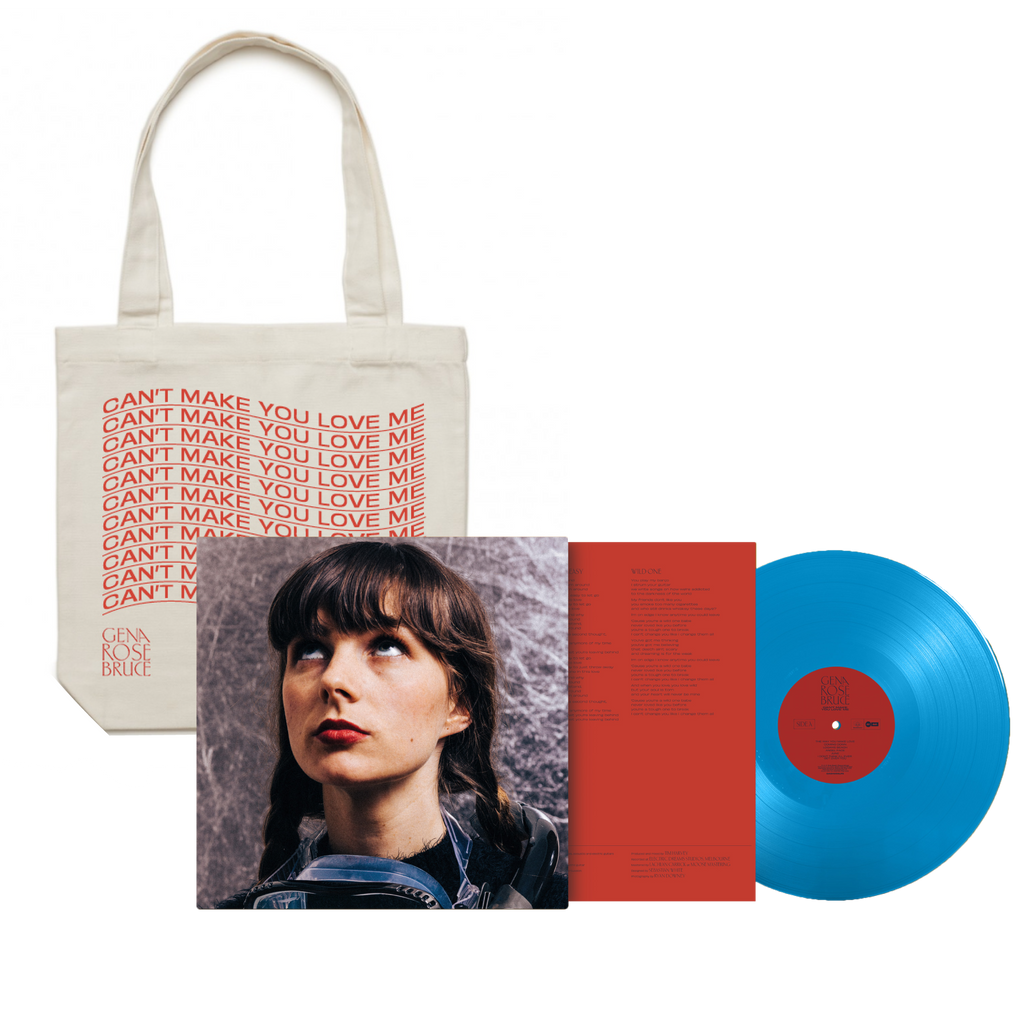 "Gena Rose Bruce 'Can't Make You Love Me' Limited Edition Blue 12"" Vinyl + Tote Bundle"