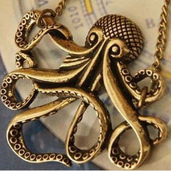 Nautical Vintage Inspired Style Octopus Necklace