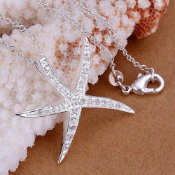 Salty Sultry Starfish Bling Necklace - Pandemoneum.com