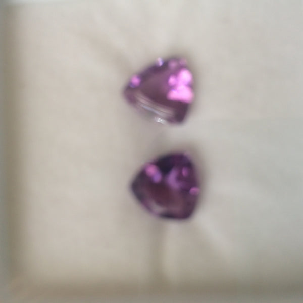 Amethyst set of 2 (8mm) Loose Gems