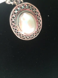 Bali Mabe Pearl Sterling Silver Pendant