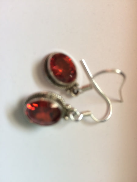 Artisan Crafted Simulated Orange Diamond Earrings