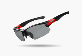 2020 LIMAR ELIAS PHOTOCHROMIC CYCLING GLASSES | MATT BLACK/RED