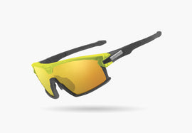 2020 LIMAR F90 POLYCARBONATE CYCLING GLASSES | MATT TITANIUM/YELLOW