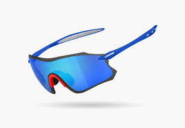 2020 LIMAR S9 POLYCARBONATE CYCLING GLASSES - Blue/Red