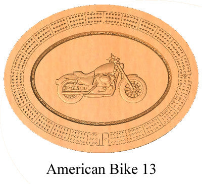 American Bike 13 Cribbage Board - Wolverine Custom Woodcraft