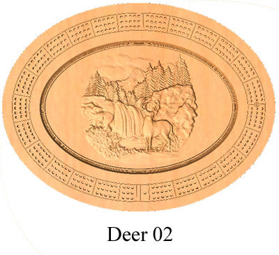 Deer 02 Cribbage Board - Wolverine Custom Woodcraft