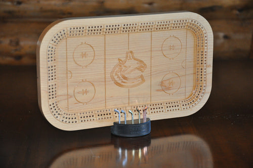 Hockey Rink Cribbage Board As Seen on TV - Wolverine Custom Woodcraft