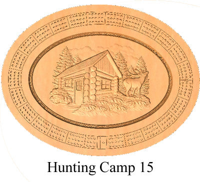 Hunting Camp 15 Cribbage Board - Wolverine Custom Woodcraft