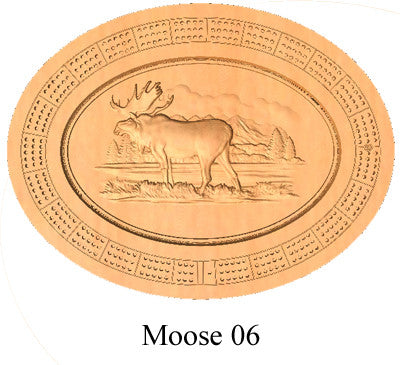 Moose 06 Cribbage Board - Wolverine Custom Woodcraft