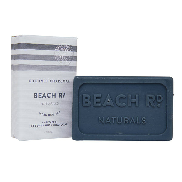 Beach Road Naturals Cleansing Bar Coconut & Charcoal | Emporium of Natural