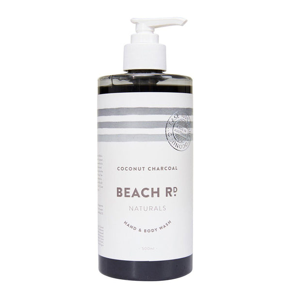 Beach Road Natural Hand & Body Wash Coconut Charcoal Emporium of Natural