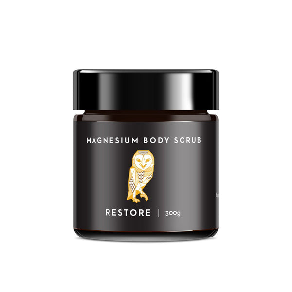 Caim & Able Magnesium Salt Body Scrub & Soak Restore Coffee Scrub | Emporium of Natural