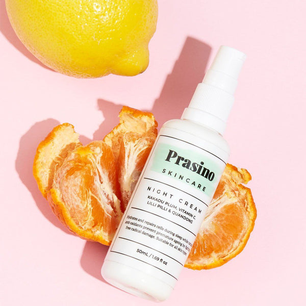 Prasino Skincare Night Cream | Emporium of Natural Organic ingredients, toxin free, vegan, cruelty free, plastic free, Australian Made