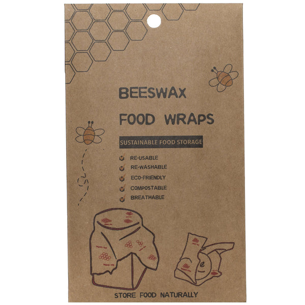 Emporium of Natural Beeswax Wraps Eco friendly sustainable set of 3