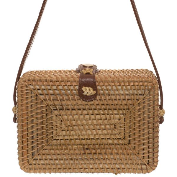 Handwoven Rattan Bag - Rectangle
