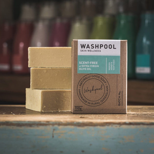 Washpool Scent Free Manuka Honey & Goats Milk Soap Bars