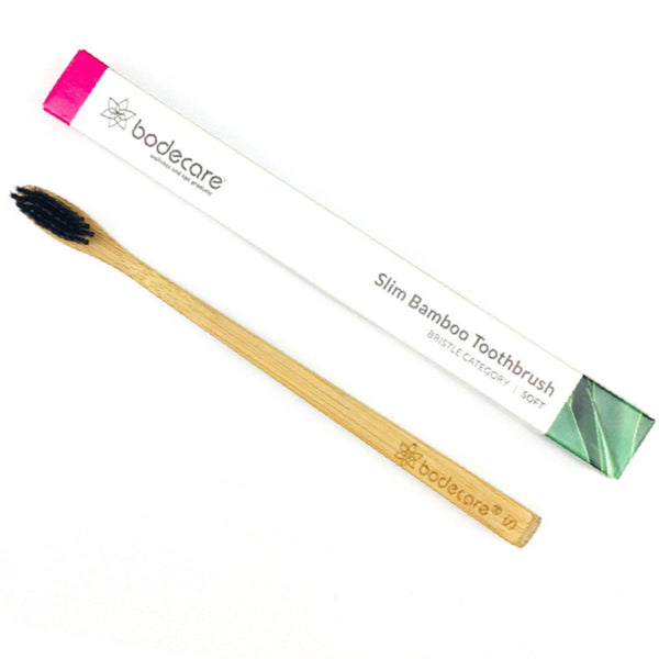 Bodecare Slim Bamboo Toothbrush Adult + Kids - Soft | Emporium of Natural