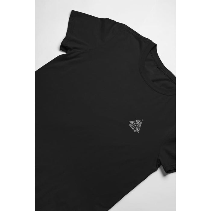 Believe - Black / X-Small - Embroidered T-Shirt