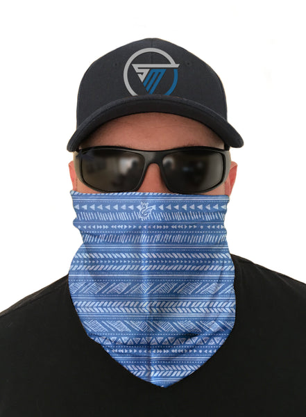 Blue Wave Face Mask Sun Shield Bandana Gatier Headware Balaclava