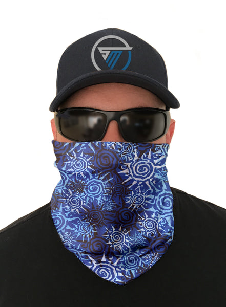 Blue Sun Face Mask Sun Shield Bandana Gaiter Headware Balaclava