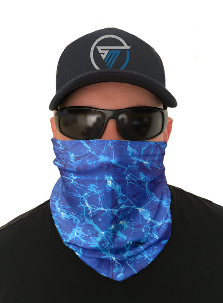 Pacific Wave Face Mask Sun Shield Bandana Gaiter Headware Balaclava