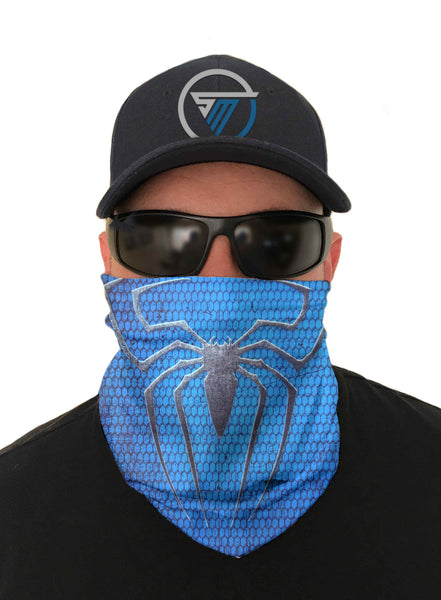 Blue Spider Cycling Face Mask Sun Shield Bandanas