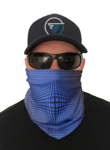 Blue Vortex Fishing Face Mask Sun Shield Bandanas