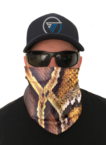 Burmese Python Fishing Face Mask Sun Shield Bandanas