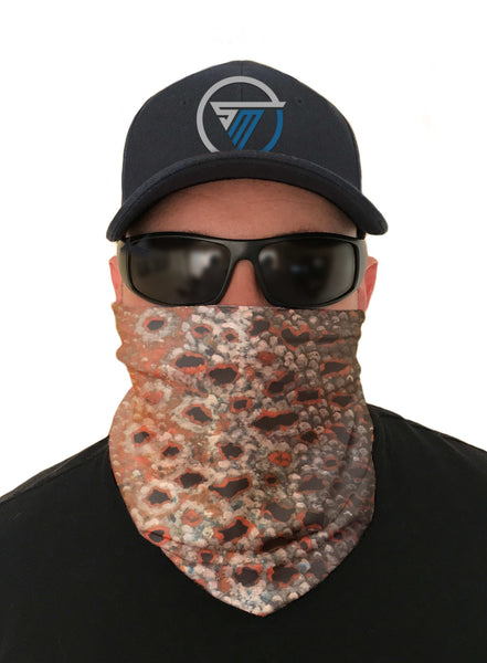 Brown Trout Fishing Face Mask Sun Shield Bandanas