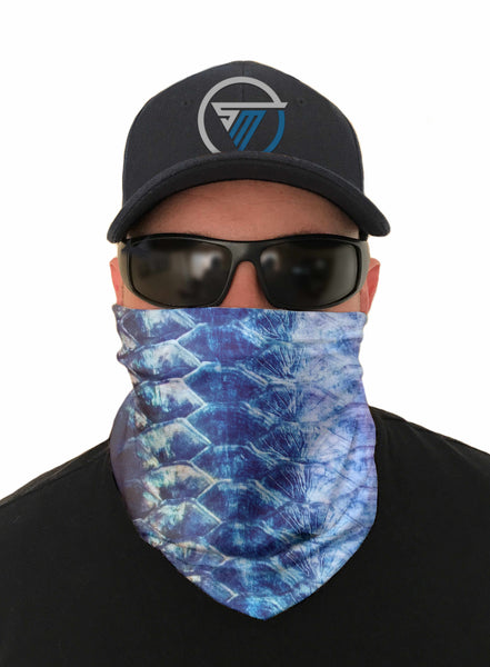 Fish Scales Face Mask Sun Shield Bandana Gaiter Headware Balaclava