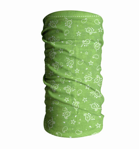 Lime Cowboy Kayaking Face Mask Sun Shield Bandanas