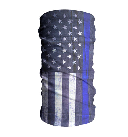 Blue Line (Police) USA Flag Face Mask Sun Shield Bandana Neck Gaiter