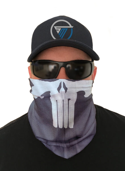 Punisher Biker Face Mask Sun Shield Bandana Biker