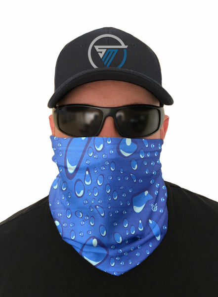 Rain Drops Kayaking Face Mask Sun Shield Bandanas