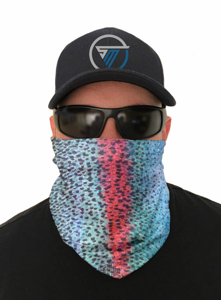 Rainbow Trout Fishing Face Mask Sun Shield Bandanas