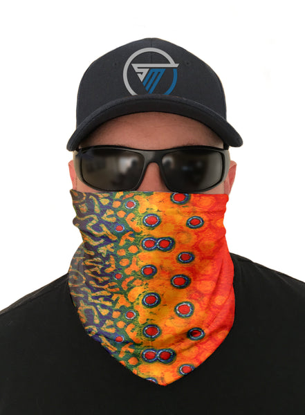 Trout Fishing Face Mask Sun Shield Bandana Gatier Headware Balaclava