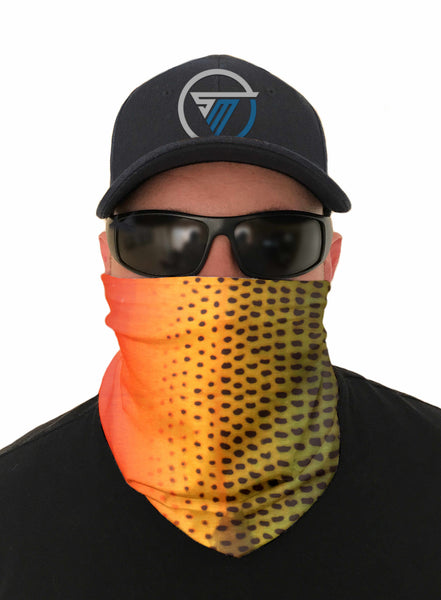 Trout Fishing Face Mask Sun Shield Bandanas